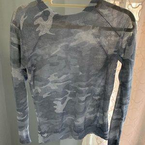 Loft metallic camo sweater